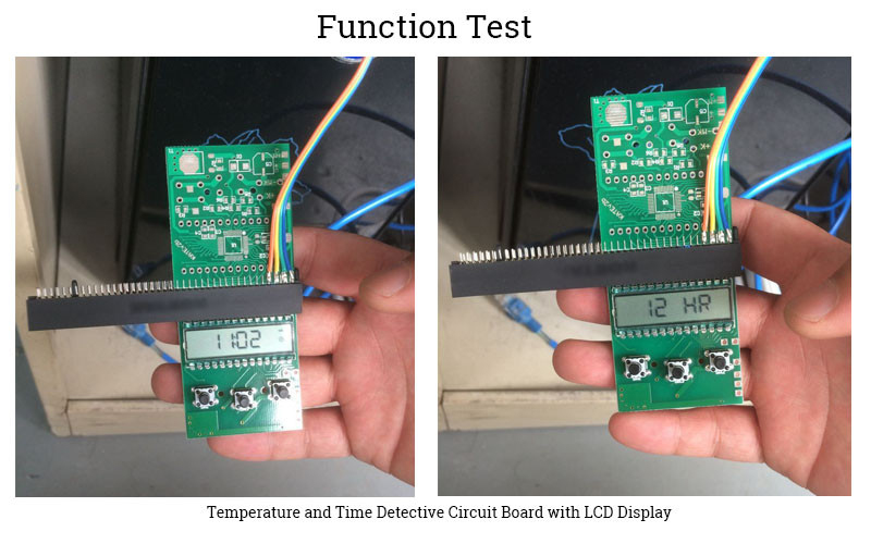 Temperature Detective Board With LCD Display Used For Aquarium